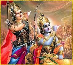 Lord Krishna and Arjun HD Wallpaper for Mobile Phone